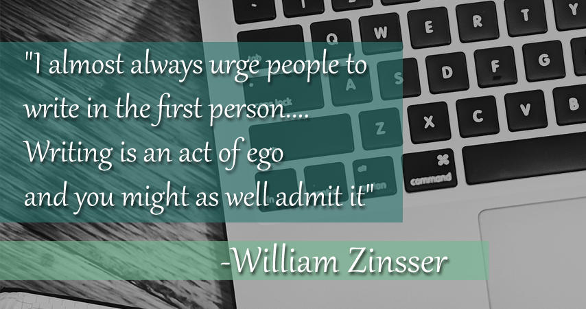 act of ego - william zinsser quote