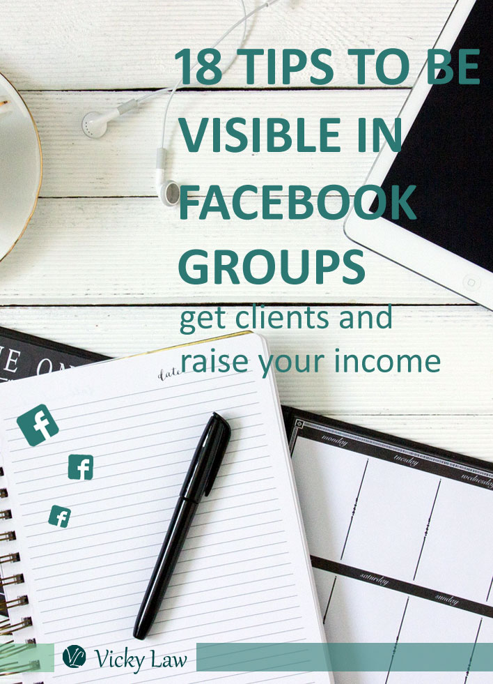 18 tips to be visible in facebook groups