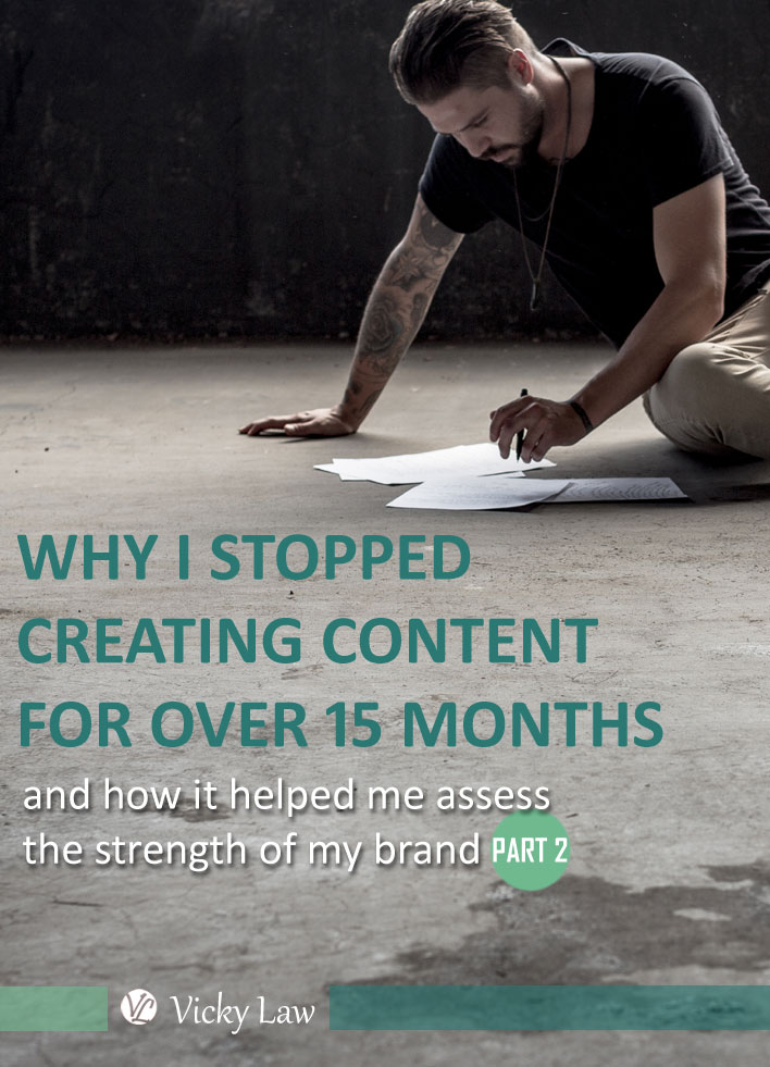 Why I Stopped Creating Content for Over 15 Months and How It Helped Me Assess the Strength of My Brand (Part 2)