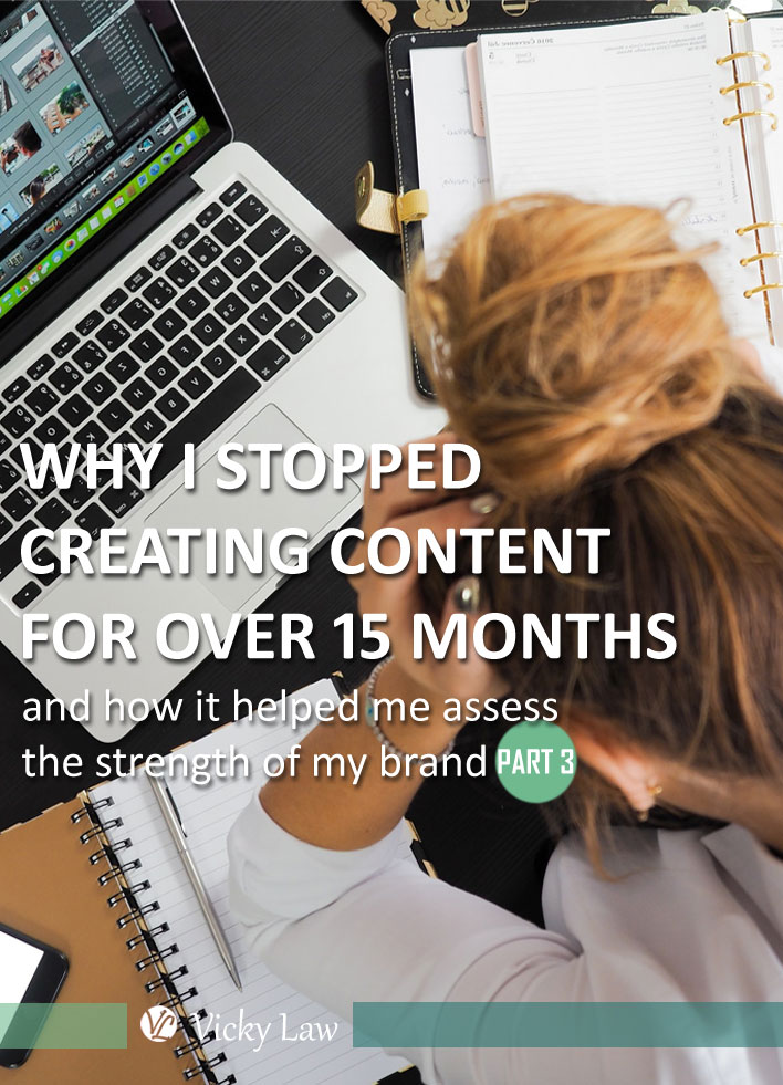 Why I Stopped Creating Content for Over 15 Months and How It Helped Me Assess the Strength of My Brand (Part 3))
